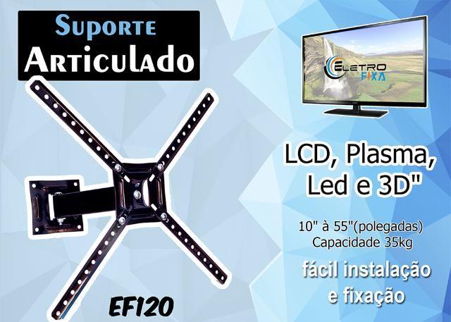 Suporte Articulado Eletro Fixa Para TV, Monitor