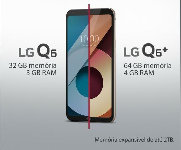 Lg q6 preto com 32gb, tela 5.5, andr7.0,4g,câmera13mp,processador octa-core + 3gb de ram