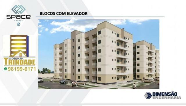 T- Space Calhau 2_Apartamento No Altos do Calha 3 Quartos_torre Com Elevador