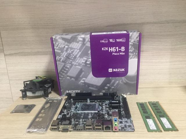 Kit placa mãe e processador i5-2400 4gb memória ddr3 - Foto 2