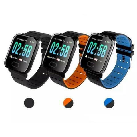 Relogio Smartwatch Inteligente A6 Corrida Batimentos Android -(Loja Wiki)-Bairro Cohab