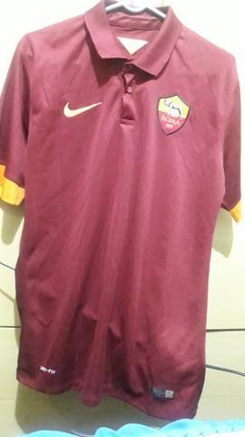 300a54cbd7 Brechó futebolístico Camisa da Roma (liso) - Esportes e ginástica ...