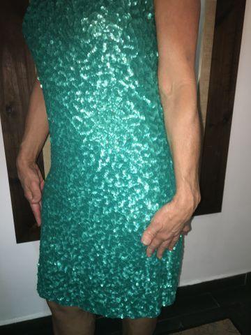 Vestido tubinho PAETÊ( Verde Esmeralda ) - Foto 4