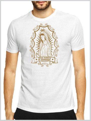 Camiseta em algodão + serigrafia : temática Católica  - Foto 2