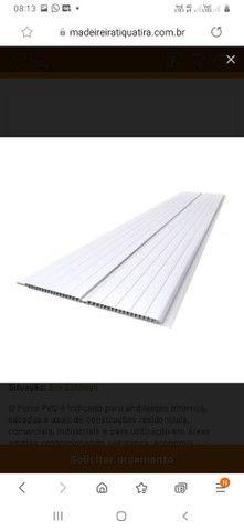 Forro pvc branco frisado Barra 6m