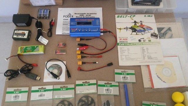 """Helicóptero Belt CP V2 - """"Super Completo"""" - (*Com todo meu Hobby). - Foto 4"""