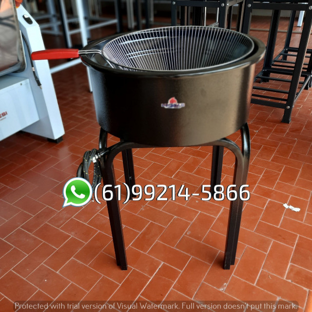 Fritadeira 14 Litros Esmaltada Pasteleiro a gás Progás - Foto 4