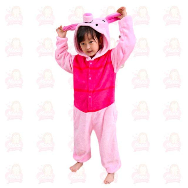 Pijamas de pelúcia variados tamanhos e modelos - Foto 4