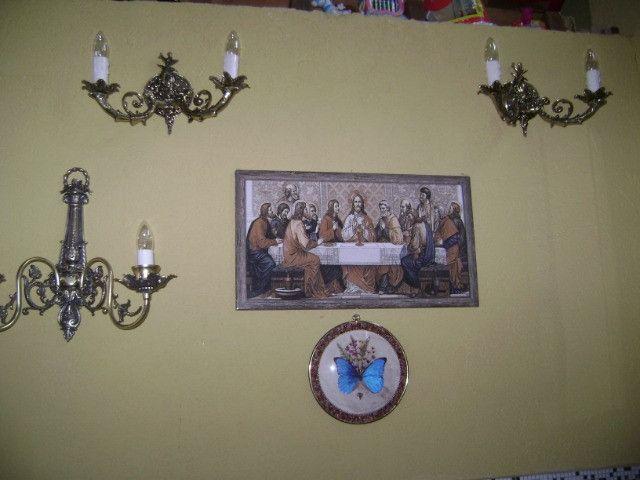Arandelas be bronze uma e duas lampadas leia - Foto 4