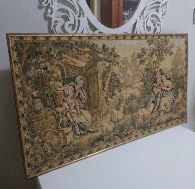 Quadro Tapeçaria Vintage Antigo - leia - Foto 6