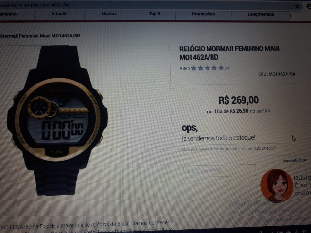 Relógios Mormaii Luau Feminino MO1462A/8D - Novos (3 Unidades) - Foto 3