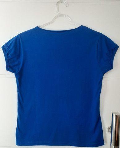Camiseta Pierim Azul Royal, Tam. M - Foto 2