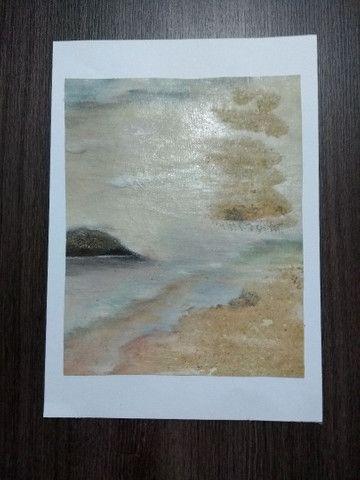 Tela: Praia do Forte - Pintura Óleo - Foto 2