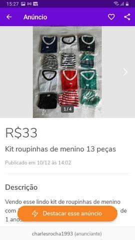 Diversos kits de roupinhas escolha o seu - Foto 4