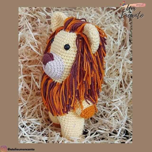Leãozinho de Crochê - Amigurumi (5% de Desconto) - Foto 2