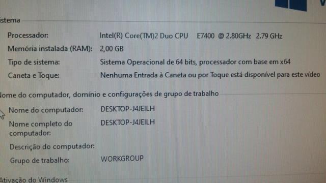 Computador Core 2 duo E7400 2GB Ram Hd de 500 GB Parcelo 10X no cartão - Foto 2