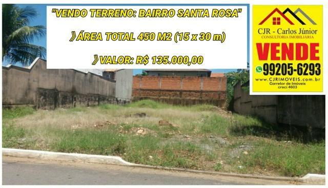 Terreno com 450 m² no bairro Santa Rosa.