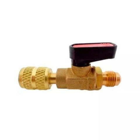 Válvula Bola 1/4 M Sae X 1/4 F Sae Registro Esfera Dugold