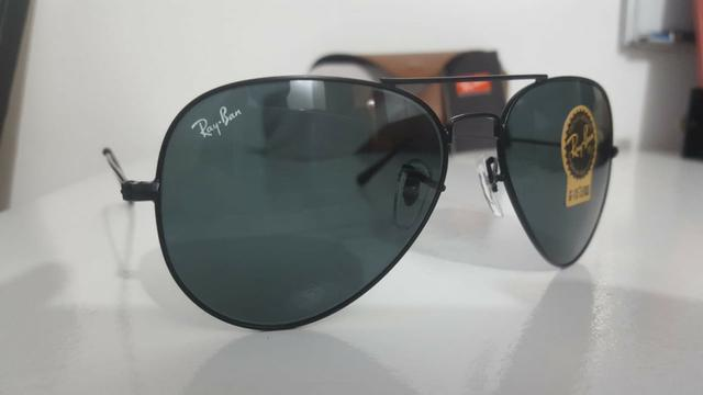 Óculos Ray Ban Aviador RB 3025 preto - Bijouterias, relógios e ... a747a8abd5