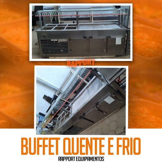 Buffet aquecido e refrigerado