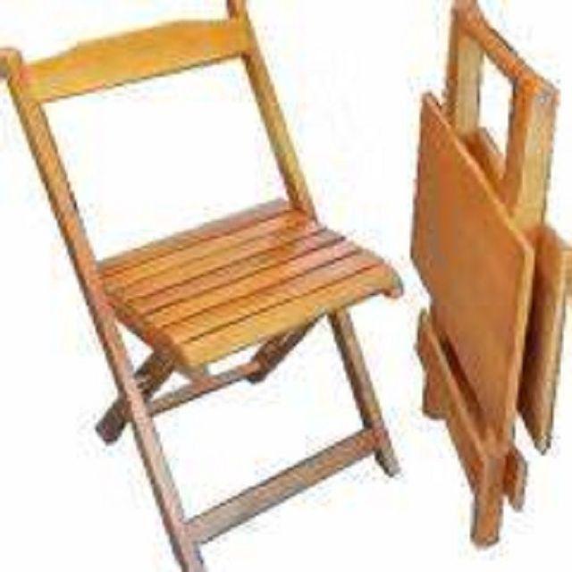 Grande Liquidação - Mesa e Cadeiras Dobráveis de Madeira - Linha Especial - Foto 3