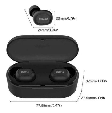 Fone De Ouvido Sem Fio QCY Qs2 Preto Bluetooth 5.0 - Foto 4