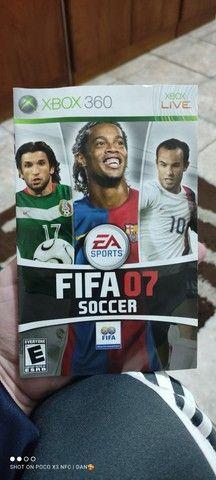Capa e encarte ORIGINAL FIFA 07 Xbox - Foto 3