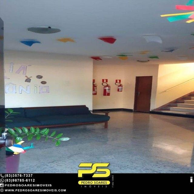 Apartamento com 1 dormitório para alugar, 60 m² por R$ 1.400,00/mês - Tambaú - João Pessoa - Foto 2