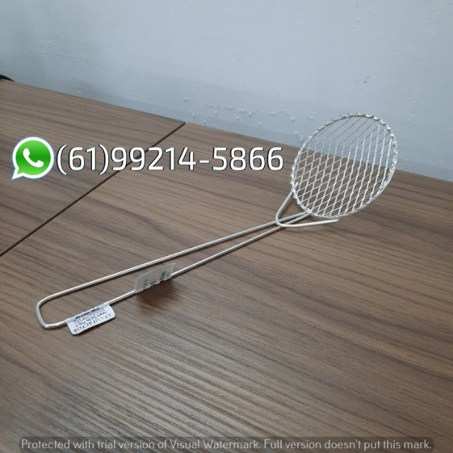 Peneira Escumadeira Plug N°10 P/ Frituras Aramfactor - Foto 3