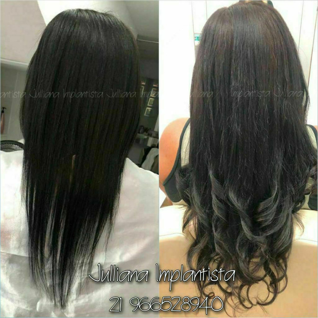 Mega hair, ponto americano,  entrelace, fita adesiva nó italiano  - Foto 6