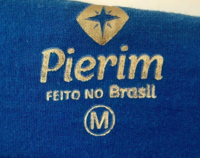 Camiseta Pierim Azul Royal, Tam. M - Foto 4