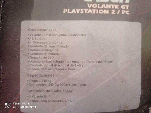Volante GT Multilaser Playstation 2 PC - Foto 5