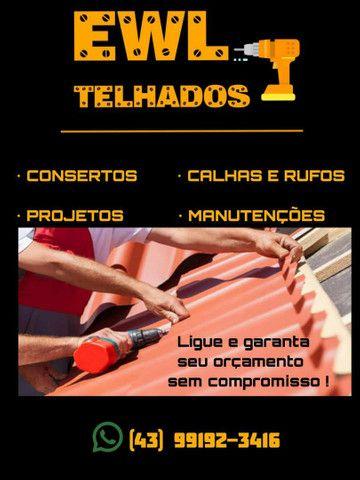 Conserto telhado/Calhas e rufos