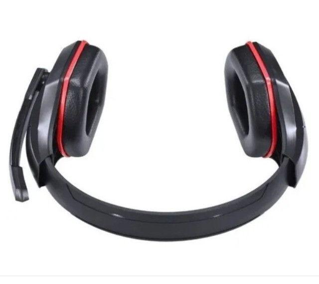 (NOVO) Fone Headset Gamer Vx Gaming Ogma P2 Stereo Preto E Vermelho - Foto 3