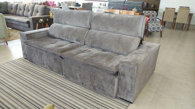 Sofá retrátil é reclinável só 1999,99 12x166,66