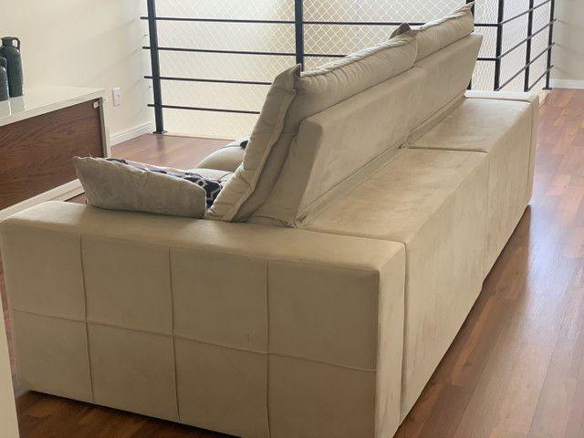 Sofa retrátil e reclinável 2,68  largura