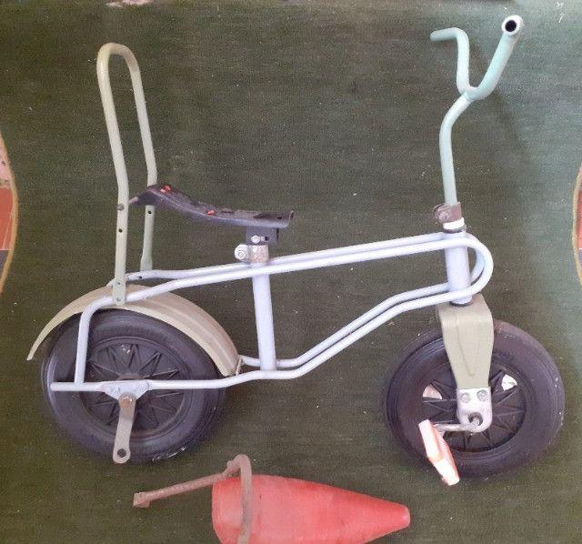 Rara bicicleta infantil Bandeirante roda plástica