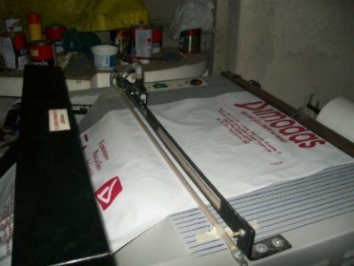Máquina de sacola Automática sensor foto célula/silk-screen semi auto sensor foto elétrico