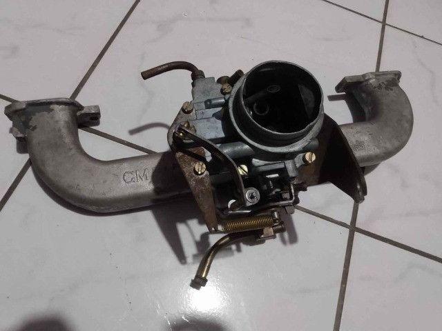 Carburador DFV 446 gasolina com coletor, filtro e cabo de acelerado