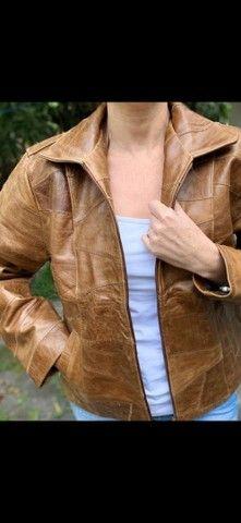 Jaquetas em couro legítimo fem - Foto 5