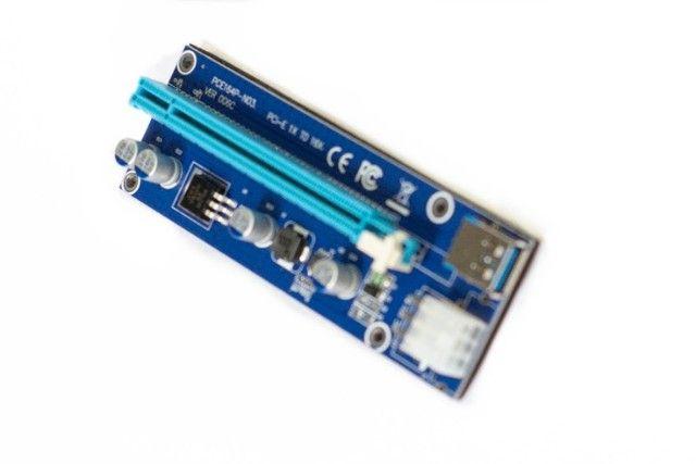 Cabo Riser PCI-e adaptador para mineração c/garantia  - Foto 3
