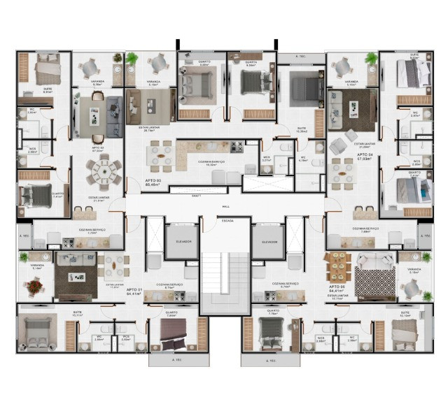 Apartamentos com 64m²,67m²,85m² em Camboinha - Foto 9