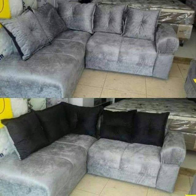 Sofá de canto aconchegante novo com várias cores disponiveis - Foto 3