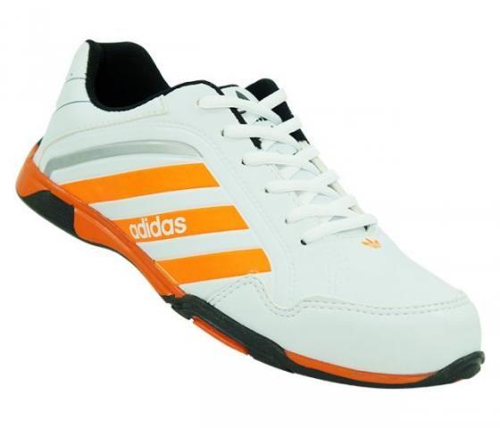 Tênis Masculino Adidas F900 Branco e Laranja