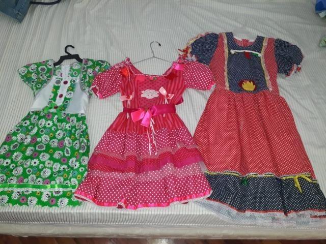 3 vestidos de festa Junina pelo preço de um