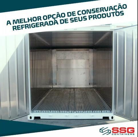Container Frigorífico 40 pés Refrigerado Câmara Fria 12 metros Conteiner usado aço inox - Foto 6