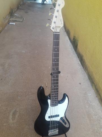 Bass squaier fender topissimo otima tocabilidade - Foto 2