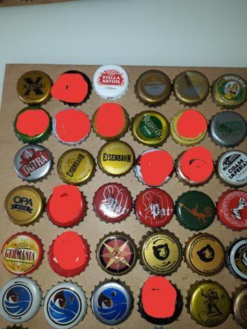 Lote tampinhas cervejas diversas para colecionador - Foto 2