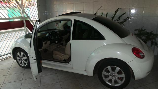VW- New Beetle 2.0 Cor Branco Com Teto Solar Ano 2006/2007 - Foto 2