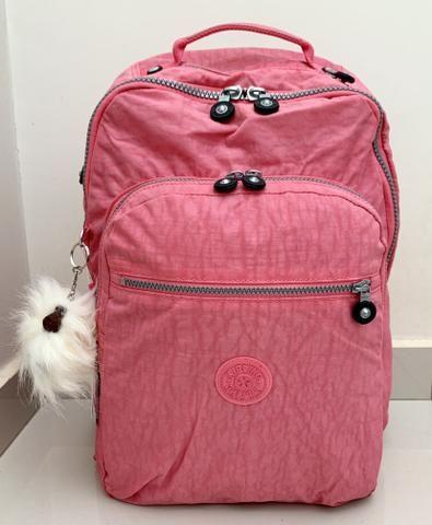 descuento especial de diseño de calidad última venta Mochila Kipling Rosa com Macaco Furry Exclusivo